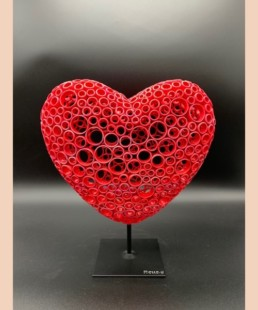 COEUR 3D - yohan plu - pièce unique coeur en cuivre