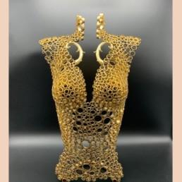 EVA BUSTE - Yohan plu - artiste vendéen - pièce unique en cuivre