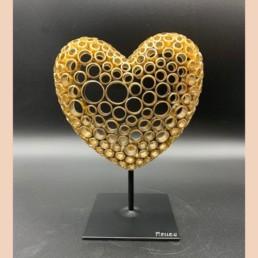 GOLDEN HEART S - yohan plu - pièce unique - coeur en cuivre