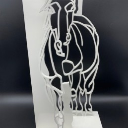 HORSE - pascal buclon - cheval sculpture