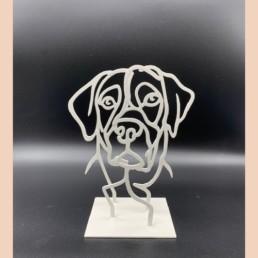 LITTLE DOG - pascal buclon - chien sculpture -
