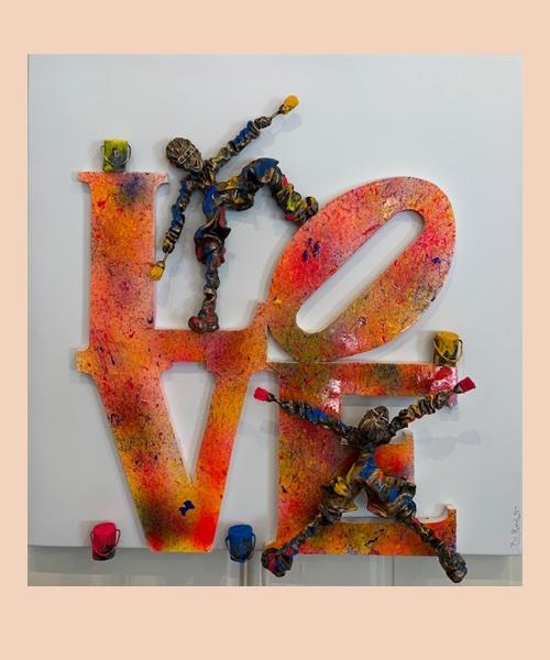 LOVE INDIANA - bernard saint maxent - tableau unique