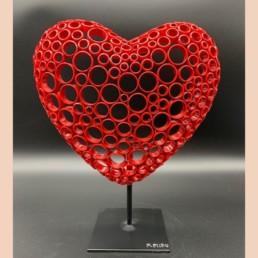 RED HEART L - yohan plu - coeur en cuivre - pièce unique