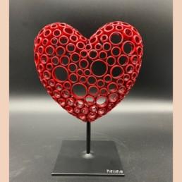 RED HEART s - yohan plu - coeur pièce unique cuivre