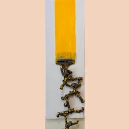 YELLOW ROLL - pascal buclon - tableau unique